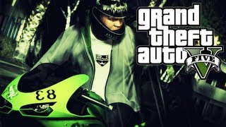 GTA: V — Driving A Kawasaki Ninja! (HD)