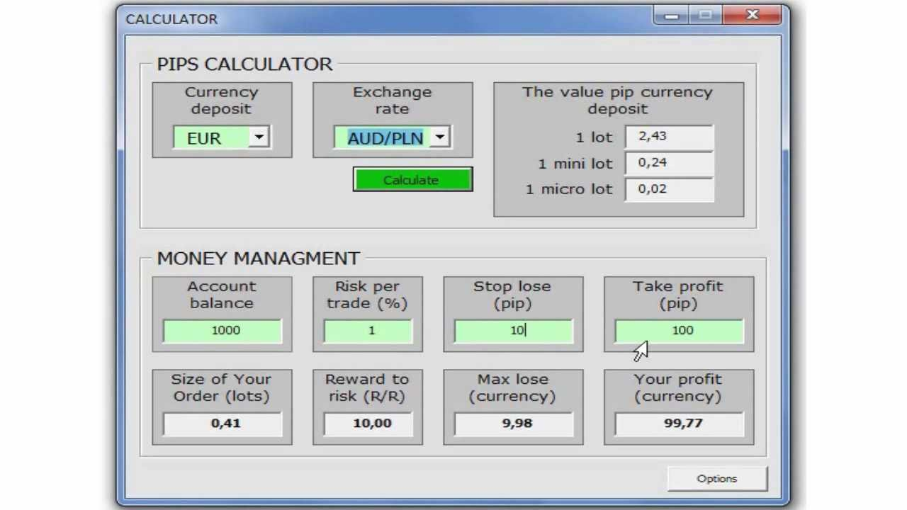 Oanda forex margin calculator