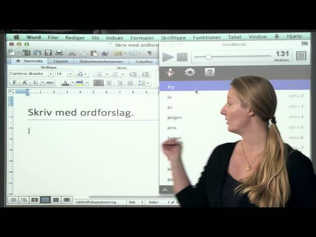 Oplæsning og skrivning på Mac