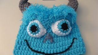 Crochet Blue Monster Beanie / Video One