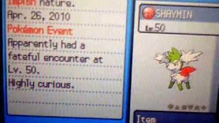 Pokémon HeartGold/SoulSilver Shaymin Sky Form And The