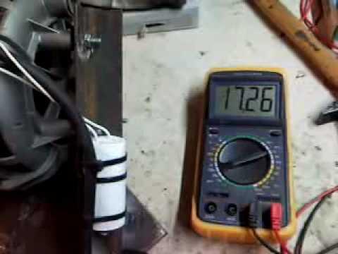alternatore auto modificato con magneti permanenti (USO EOLICO)