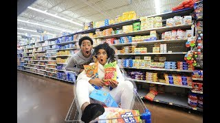 CRAZY GROCERY SHOPPING WITH DK4L   VLOGMAS DAY 6