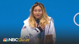 2018 Winter Olympics: Chloe Kim gets her gold medal at medal ceremony | NBC Sports