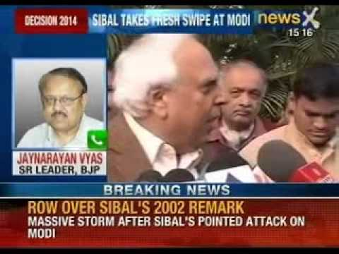 Breaking News: Kapil Sibal takes fresh attack at Narendra Modi over Gujarat riots - NewsX