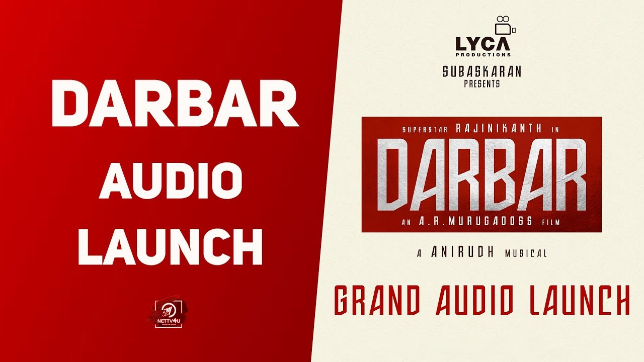 Darbar Audio Launch | Superstar Rajinikanth | Anirudh | AR Murugadoss | Lyca | Nettv4u