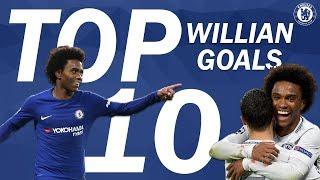 Top 10 Incredible Willian Goals | Chelsea Tops