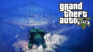 GTA 5 Easter Eggs Underwater UFO! (GTA V Easter Egg