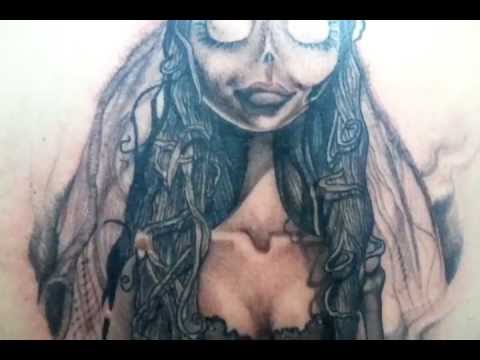 tattoo corpse bride tattoo by zold original design tim burton youtube. Black Bedroom Furniture Sets. Home Design Ideas