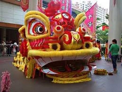 [Múa Lân King] Đầu Lân Lớn Nhất Thế Giới ở Singapore || Múa lân Sư Rồng