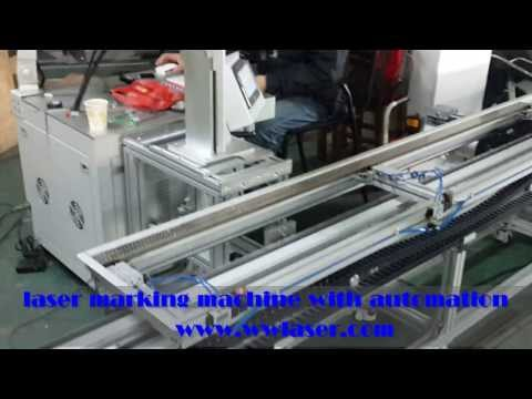 Automation for fiber laser marking machine