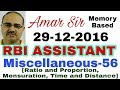 Miscellaneous Questions 56 RBI ASSISTANT 29 12 2016 Memory Based Amar Sir