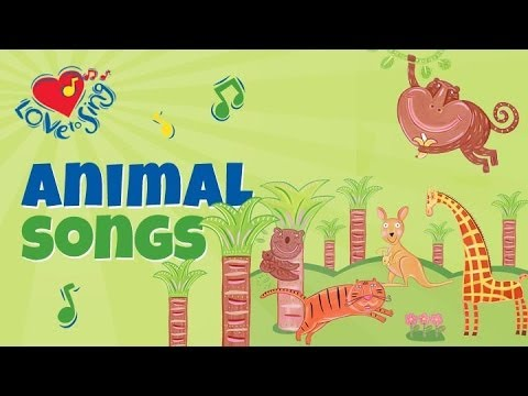 We're Going to the Zoo With Lyrics - Children Love to Sing Kids Songs