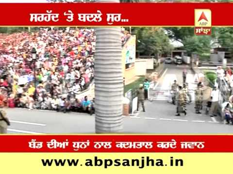 ABP SANJHA SPECIAL: Retreat ceremony at Attari-Wagah border becomes musical with Drum Beats