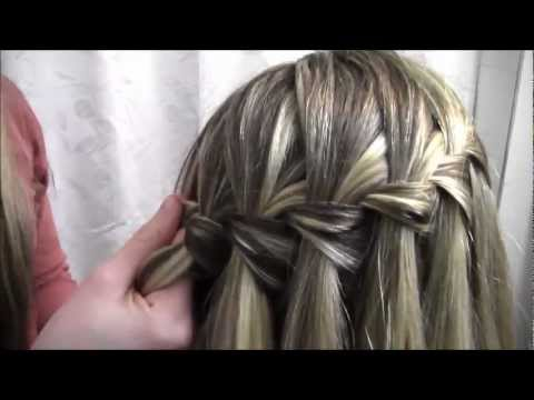 how to make waterfall braid step by step dailymotion