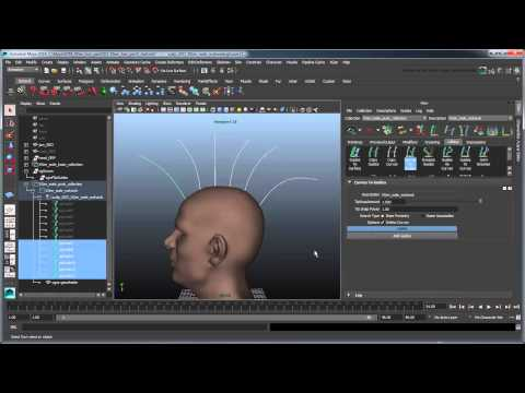 Maya Tutorial: Creating XGen hair - Part 2: Punk hairstyle using Clump Maps and Groomable Splines