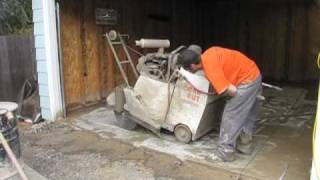 Garage Floor Saw Cut