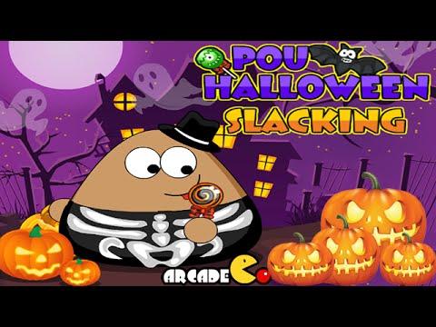 Pou Halloween Slacking Walkthrough
