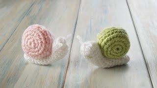 (crochet) How To Crochet A Snail Yarn Scrap Friday