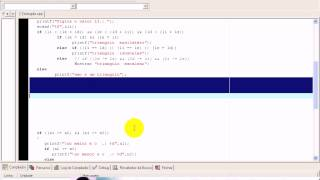 aula 1058 Algoritmos e Logica de programação Exerc SE triangulo C view on youtube.com tube online.