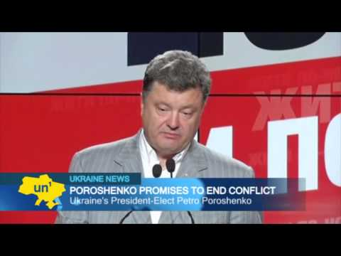 Poroshenko promises to end conflict: Ukrainian president pledges to open dialogue with restive east