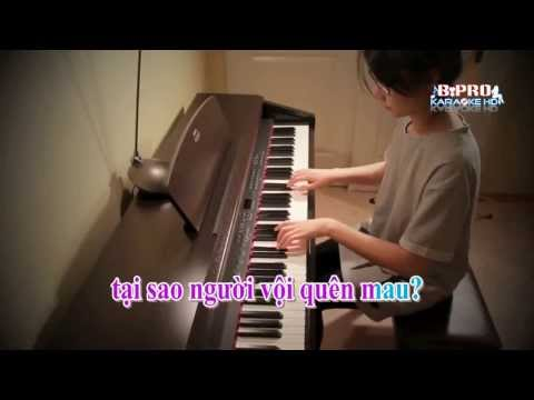 Karaoke HD Nang Am Xa Dan   Son Tung   Piano Cover An Coong