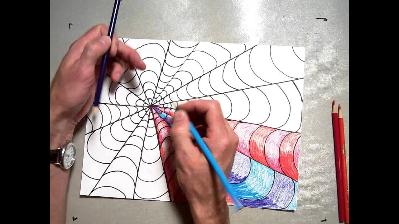 Op Art Vanishing Point Coloring