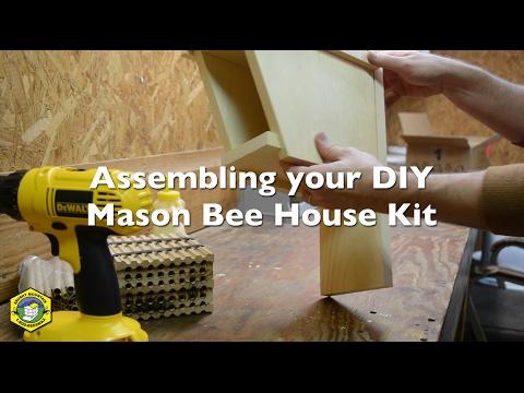 Assembling your DIY Mason Bee House