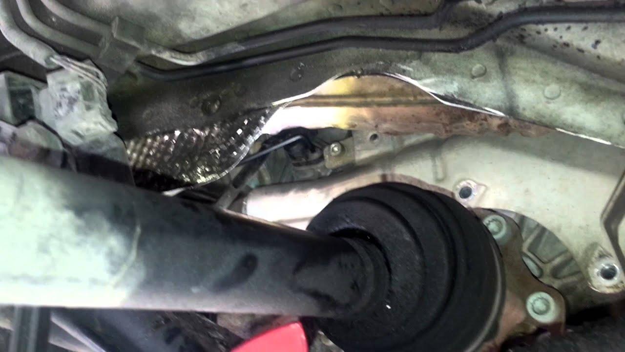 Crankshaft Position Sensor On A 05 Audi A4 3 0l V6 Youtube