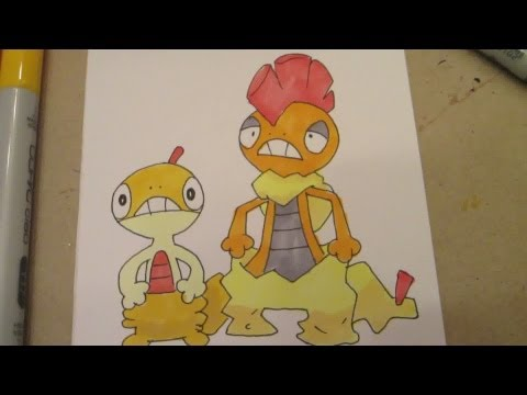 How to draw Pokemon: No.559 Scraggy, No.560 Scrafty
