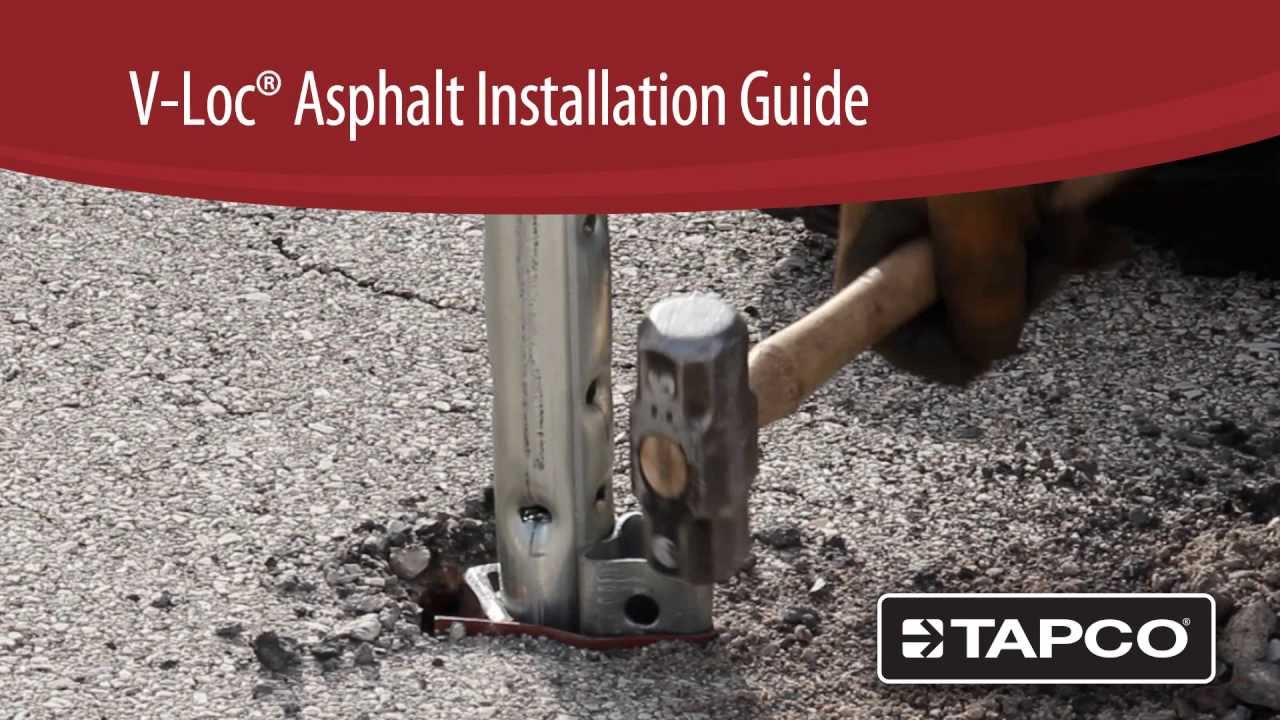 V Loc Breakaway Anchor Installation In Solid Asphalt Youtube
