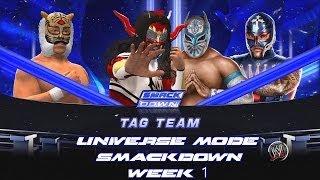 WWE 2K14 Universe Mode SmackDown Week 1 Jushin And