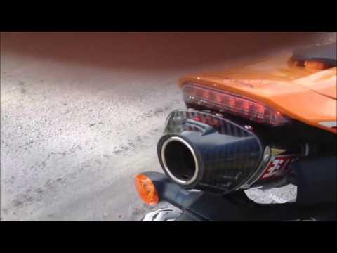 Honda 600rr two brothers & joshimura - akrapovic exhaust sound