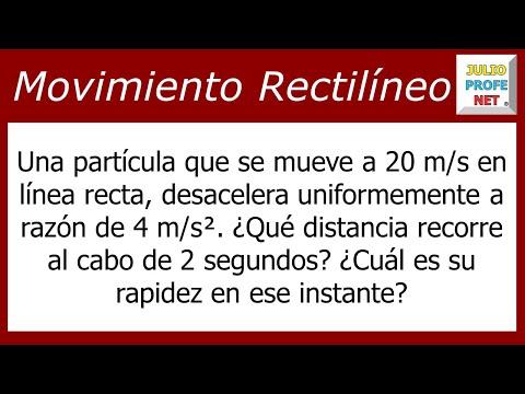 Movimiento Rectilíneo Uniformemente Desacelerado (Problema 2)