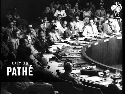 Count Bernadotte, Reports On Palestine To U.N. Security Council AKA Count Bernadotte At Un (1948)