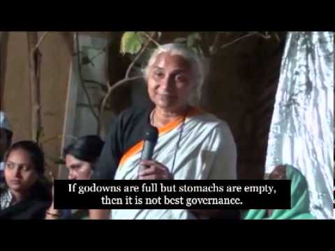 Medha Patkar talks about governance