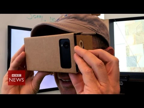 Google's DIY virtual reality cardboard headset - BBC News