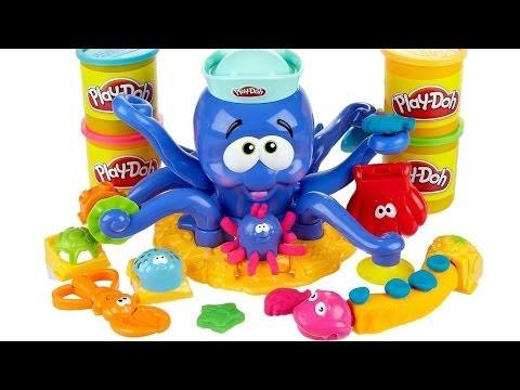 Polvo Divertido Massinha Play-Doh Octopus Playset Animais Marinhos Play Dough Ocean Animals 20390