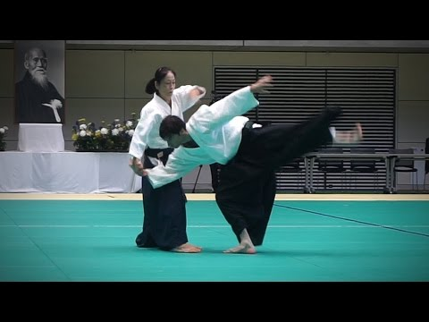 Yoko Okamoto (岡本洋子) - Aikido Demonstration - 12th IAF Congress (2016)