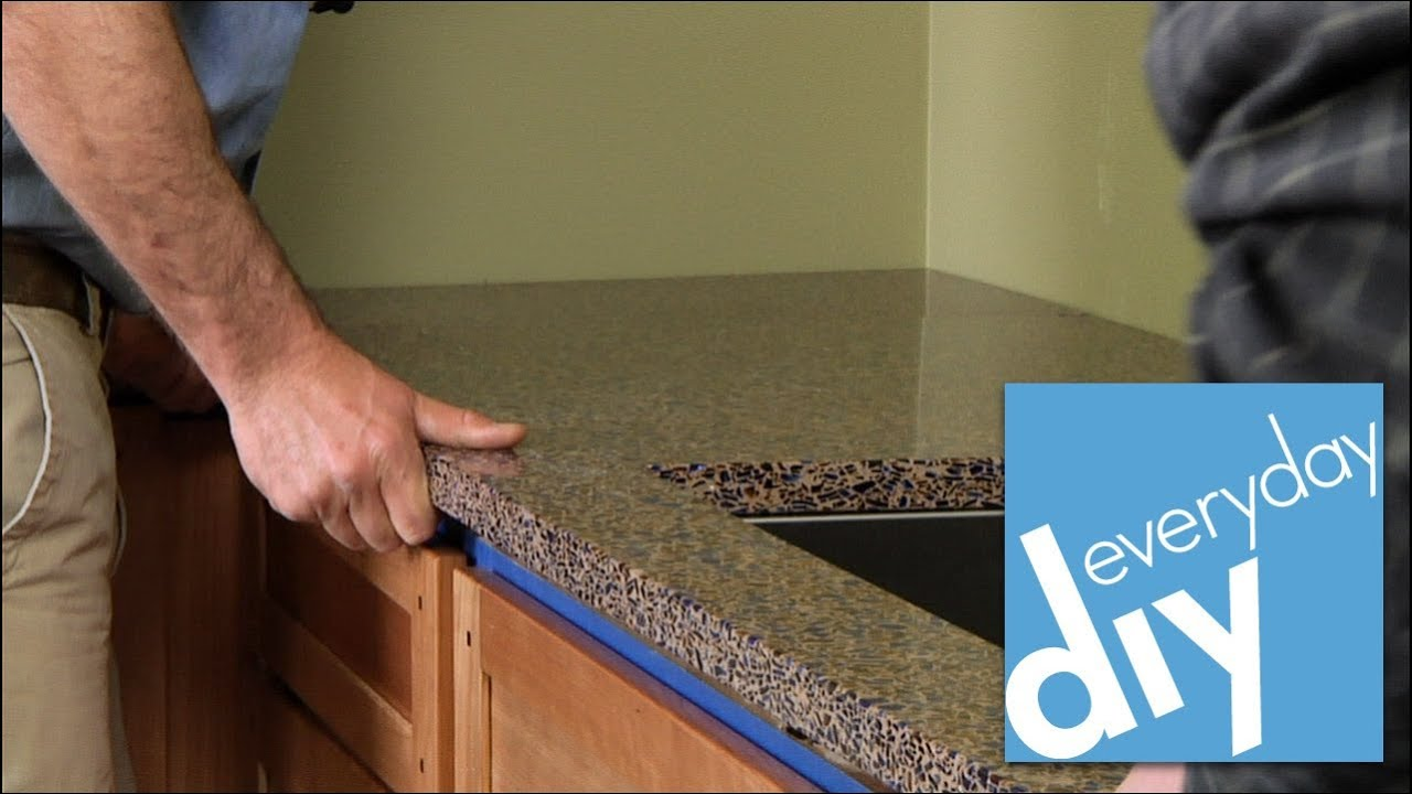 How to Install a Kitchen Countertop -- Buildipedia DIY - YouTube