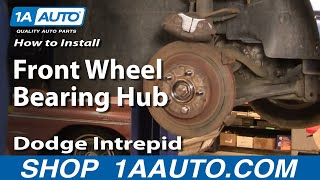 How To Install Repair Remove Front Wheel Bearing Hub Dodge