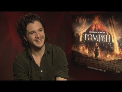 Phwoar! Gorgeous AND funny - Kit Harington talks abs, love and new film Pompeii