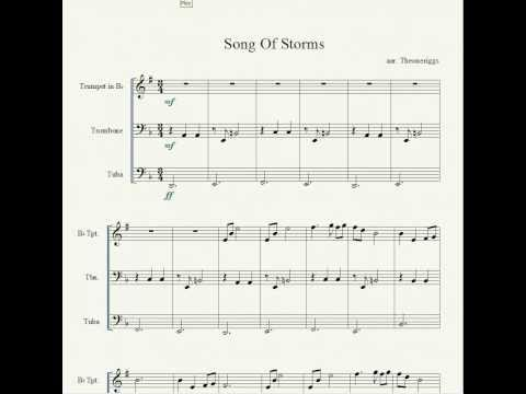 Song of storms add to ej playlist a trio arrangement of song of storms