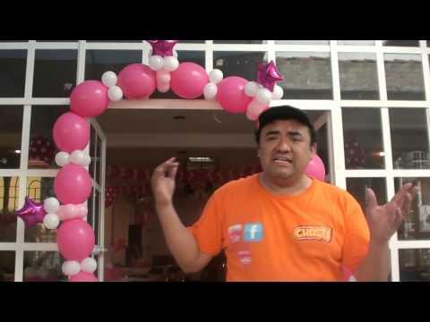 ARCO BIPOLO CON ESTRELLAS GLOBOS CHASTY VIDEO 5 MES JUNIO