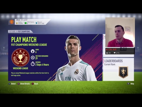 FUT CHAMPIONS WEEKEND LEAGUE #4 p3 (LIVE STREAM) (FIFA 18)