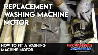 How to fit a washing machine motor
