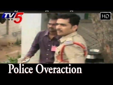 Police Overaction At Chirala Panchayat Polling  - TV5