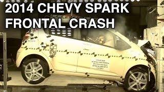 2014 Chevy Spark Frontal Crash Test CrashNet1