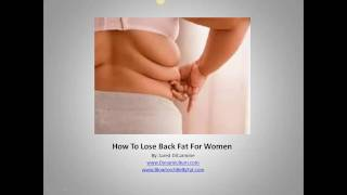 How To Lose Back Fat For Women