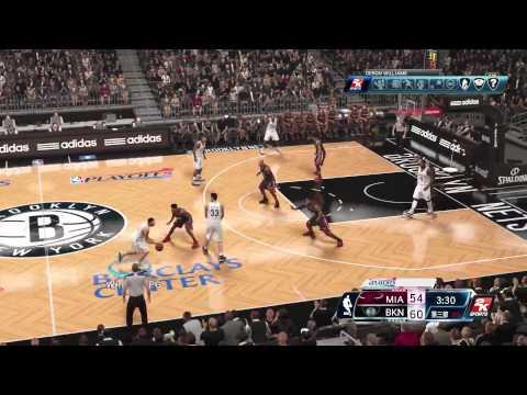 NBA 2K14 PLAYOFF HEAT VS NETS